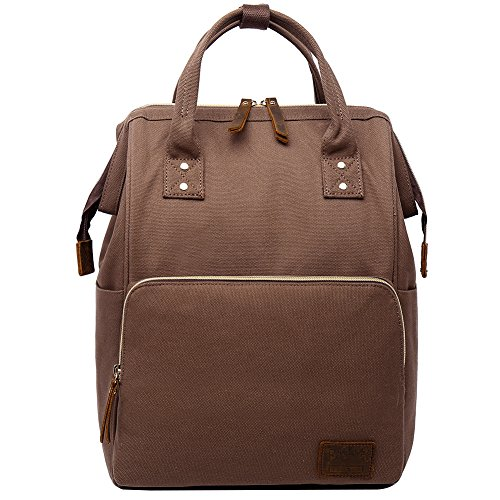 Stylish Doctor Style Multipurpose School Travel Backpack for Men Women Coffee by Berchirly