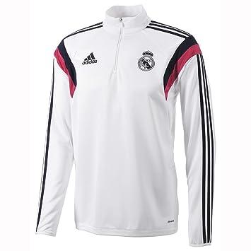 adidas Sudadera Real Madrid Blanco-Bast pink: Amazon.es: Deportes y aire libre