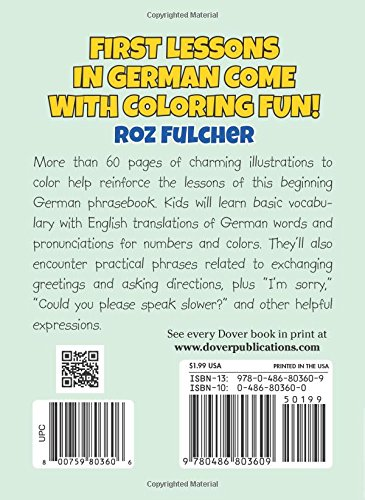 Color Learn Easy German Phrases For Kids Dover Little Activity Books Roz Fulcher 0800759803606 Amazon