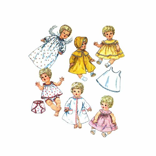 1960s Betsy Wetsy Carrie Cries Sweetie Piece Tiny Tears Doll Clothes Simplicity 4727 Vintage Sewing Pattern  Check Offers for Size