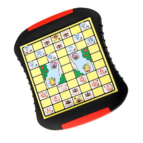 Kesoto 中国ジャングル 動物 ボードゲーム パズル 子供 知育 教育玩具 ギフト チェスボードセット