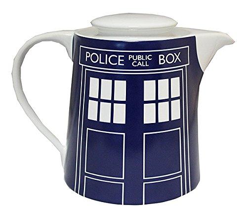 Doctor Who Tardis Door Panel Tea Pot, Blue (Teapot Doctor Who)