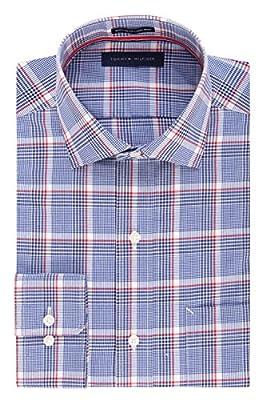 Tommy Hilfiger Men's Regular-Fit Non-Iron Plaid Dress Shirt