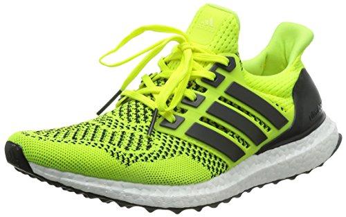 Adidas Mens Ultra Boost Scarpe Da Corsa - Giallo Solare - Cuscino Neutro Giallo