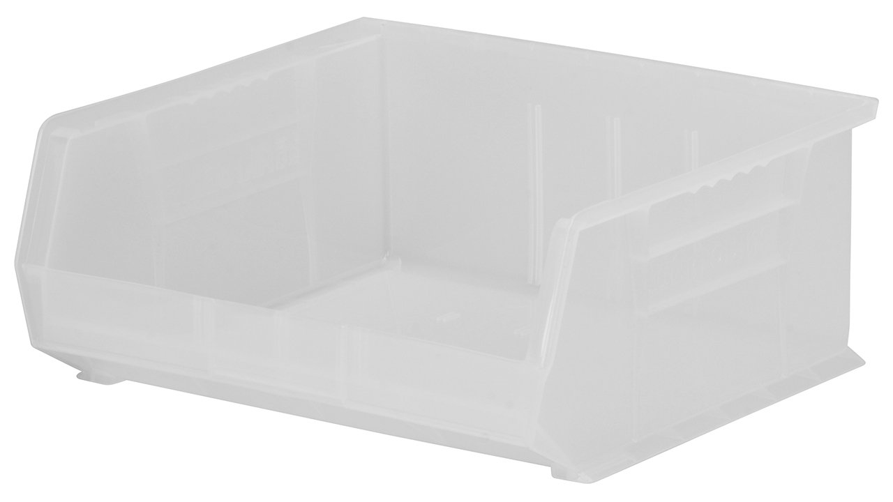 Akro-Mils 30235 Plastic Storage Stacking AkroBin, 11-Inch by 11-Inch by 5-Inch, Clear, Case of 6