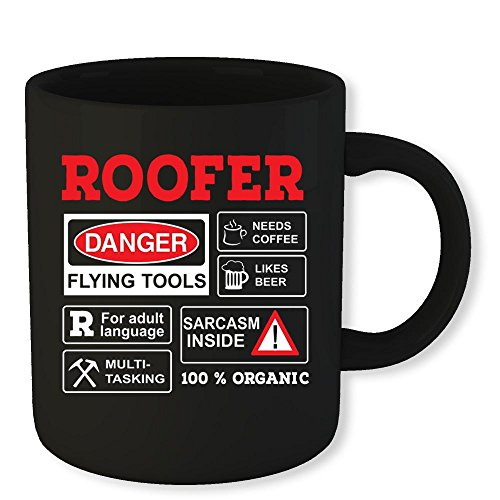 - Roofer Coffee Mug Danger Flying Tools Funny Novelty Gift 11 Oz Coffee Mug Gift For Men Women