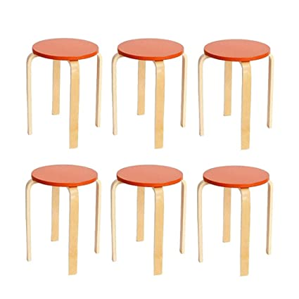 Brilliant Candy Color Wooden Small Round Table Stools Color White Theyellowbook Wood Chair Design Ideas Theyellowbookinfo