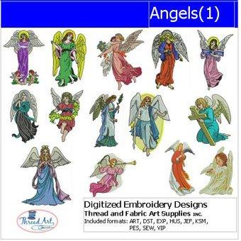 Threadart Machine Embroidery Designs - Angels(1) - USB -