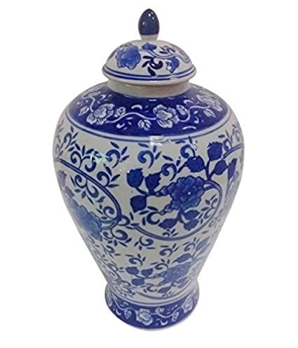 Blue And White Porcelain Floral Basket Outstanding Features Decorative Collectibles Baskets