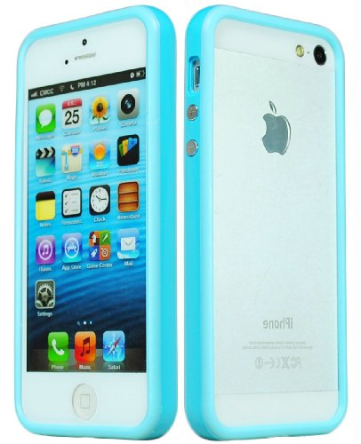 Bastex TPU Bumper Case Cover for Apple iPhone 5, 5S 5th Generation - Baby Blue