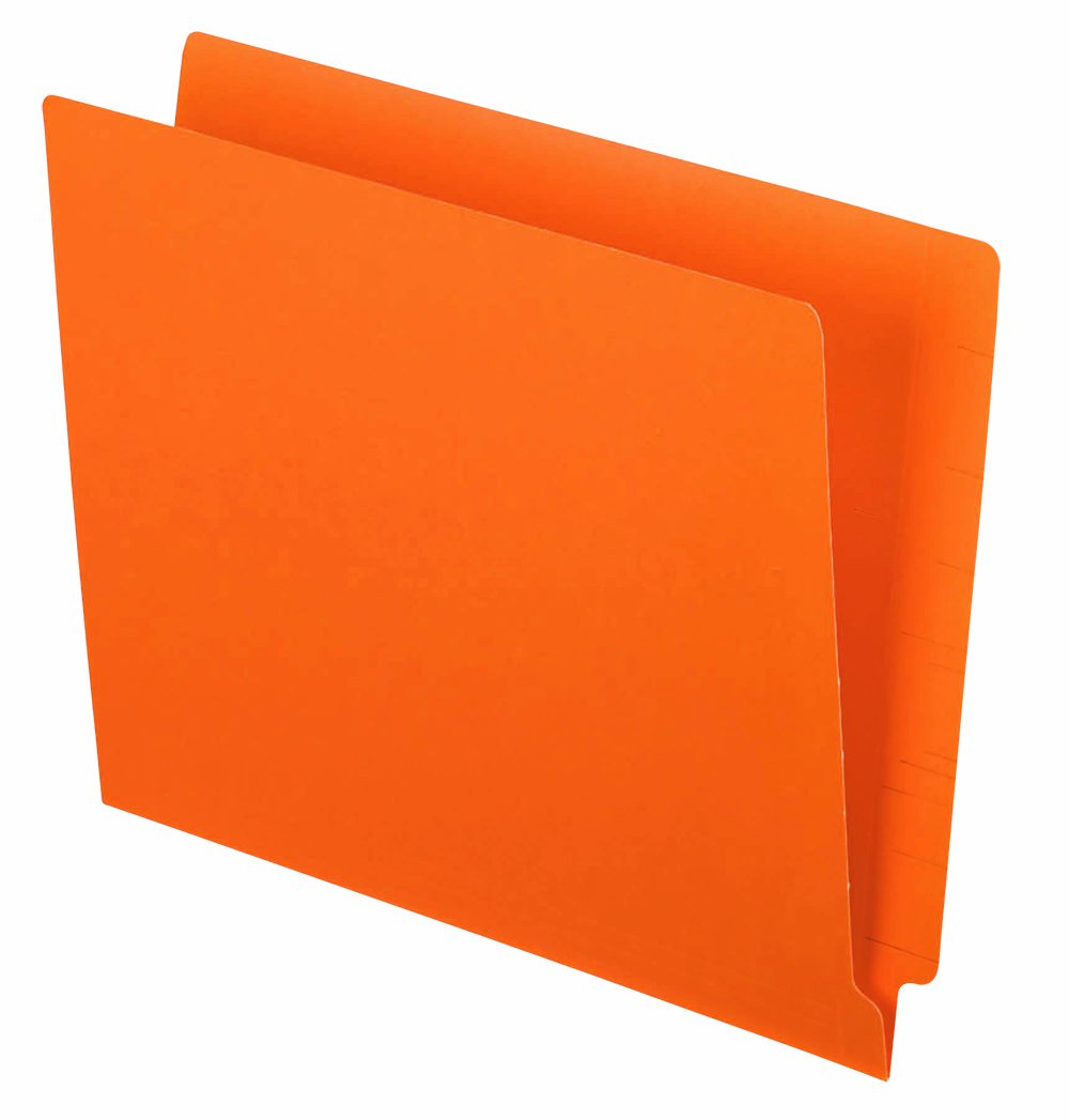 Pendaflex Color End Tab Folders, Letter Size, Orange, 100 Per Box (H110DOR) by Pendaflex