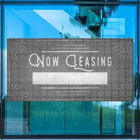 Chalk Corner Perforated Window Decal CGSignLab 96x48 Now Leasing