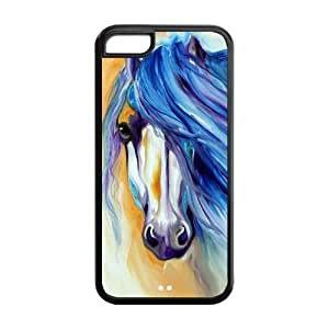 5C Phone Cases, Horse Hard TPU Rubber Cover Case for iPhone 5C by lolosakes