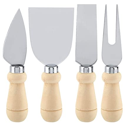 Nikou 4 unids/Set Cuchillos de Queso de Acero Inoxidable ...