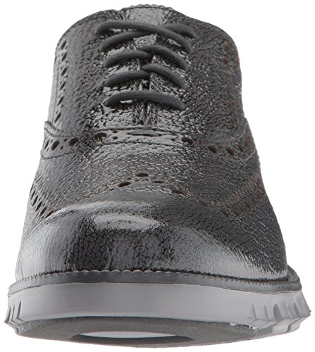 Cole Haan Hommes Zerogrand Ii Oxford Gris Pinstripe Bubl Brevet / Ironstone