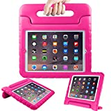 AVAWO Kids Case for Apple 9.7' iPad 2 3 4 - Light Weight Shock Proof Convertible Handle Stand Kids Friendly for iPad 2, iPad 3rd Generation, iPad 4th Generation Tablet - Magenta/Rose