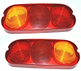 2 X JCB 3CX/4CX REAR LIGHT LENS