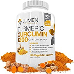 Turmeric Curcumin Extra Strength 1200mg with Bioperine (Black Pepper) - 120 Fast Acting Natural Anti Inflammatory Capsules - Supplement Shown to Support Joint Pain Relief & Reduce Inflammation