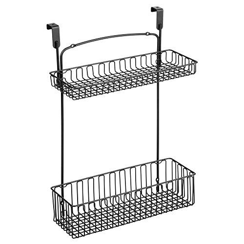 InterDesign Classico Over-the-Cabinet Kitchen Storage Organizer for Kitchen, Bathroom or Cleaning Supplies – Matte Black by InterDesign