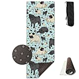 KIOT156 Pug Life Eco-Friendly Non-Slip Yoga Mat Thick Pro Exercise And Pilates Mat With A Yoga Bag