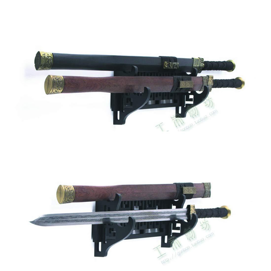4 Niveles Soporte de Pared para Espadas con Soporte para Katana Wakizashi RISEDJ drag/ón