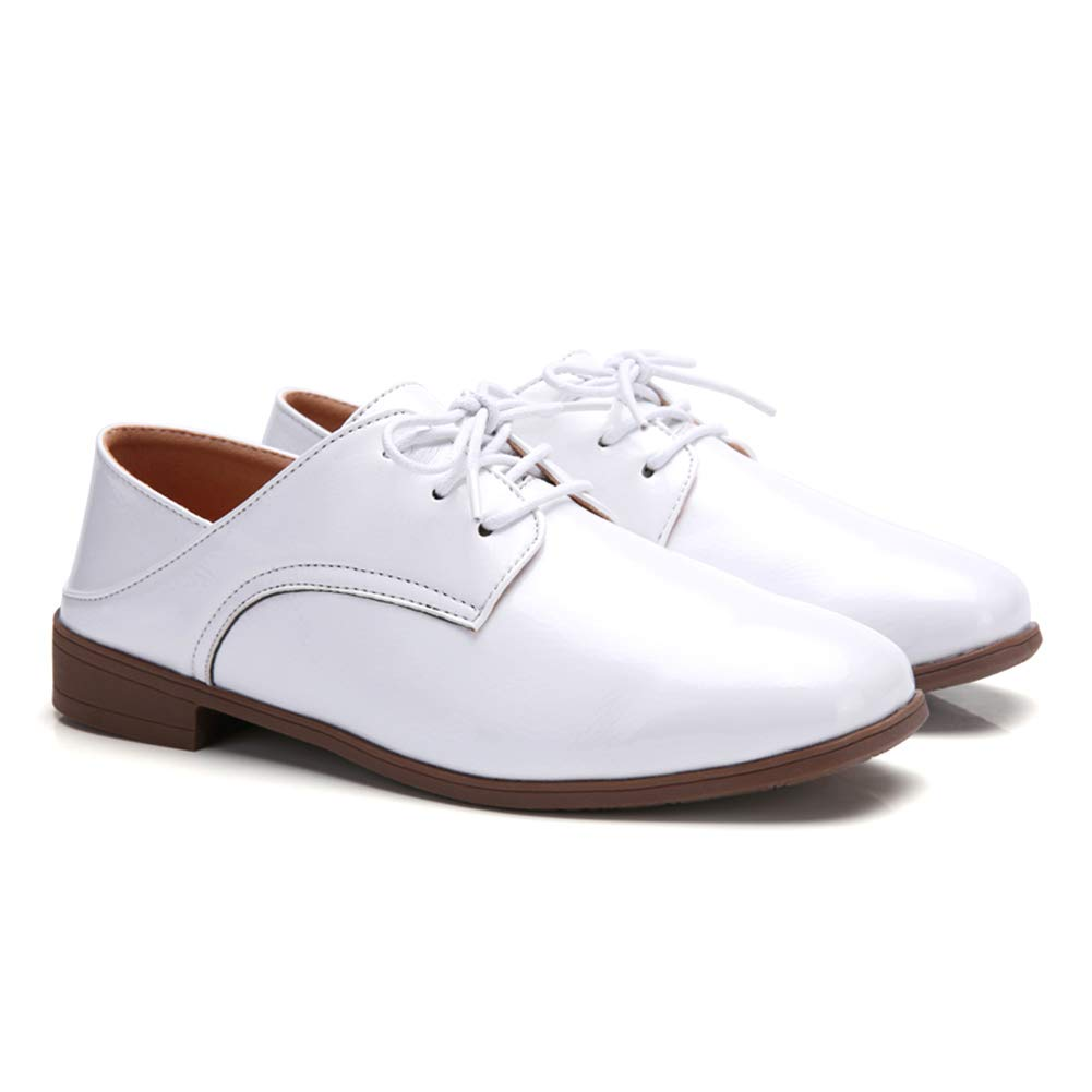 Aardich Femmes Richelieu Plates /à Lacets Chaussures Plates en Cuir d/écontract/ée Low Top Derbies Ladies Chaussures daffaires en Cuir