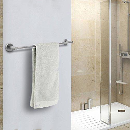 Wall Mount 23.6in Towel Rack Bar, Bathroom Shower Organization Bath ...