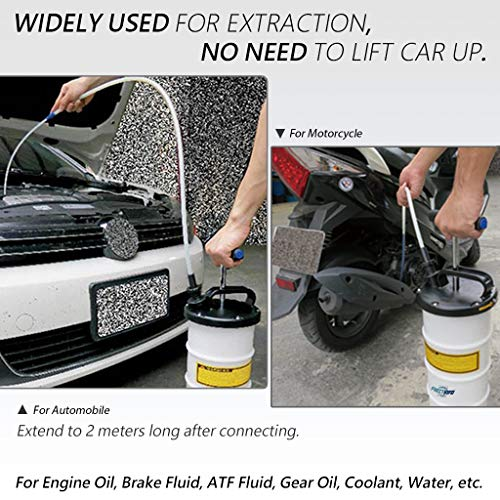 FIRSTINFO 9.5L Manual Operation Oil or Fluid Extractor by FIRSTINFO TOOLS FIT YOUR NEEDS (Image #3)