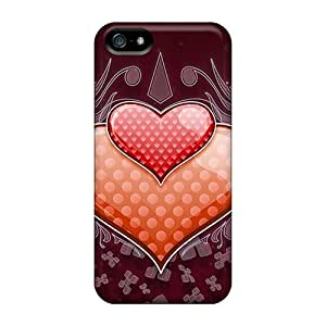 Fashion YarktvJ69cYkKv Case Cover For Iphone 5/5s(heart Love Vector Wide)