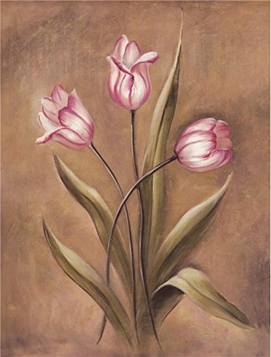 Renaissance Sixteen Light Chandelier - Oil Painting 'Pink Tulips' Printing On High Quality Polyster Canvas , 16x21 Inch / 41x54 Cm ,the Best Home Theater Gallery Art And Home Decoration And Gifts Is This Replica Art DecorativePrints On Canvas