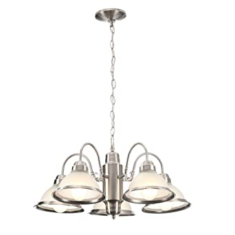 Electric Chandelier Commercial electric halophane 5 light brushed nickel chandelier commercial electric halophane 5 light brushed nickel chandelier audiocablefo