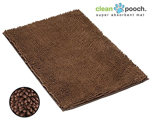 Clean Pooch Mat - Super Absorbent Mat - Perfect for Pets - Brown - 18