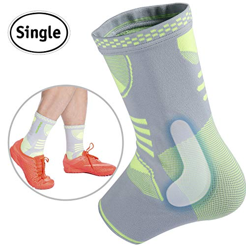 Ankle Brace Compression Support Sleeve with Gel Pads for Injury Recovery, Achilles Tendon, Joint Pain, Eases Swelling, Basketball, Workouts, Sports and More for Women & Men by Velpeau (Large) ()