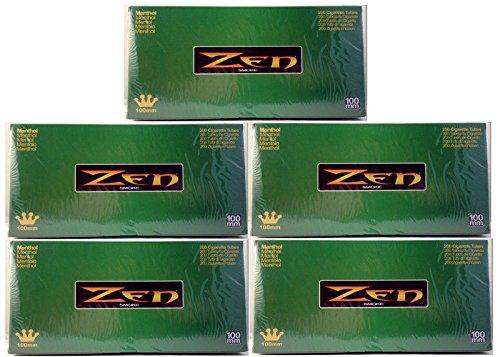 Zen 100 mm 100's Size Cigarette Filter 200 Tubes Menthol (5) ()