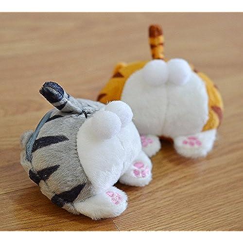 Original Cute Cat Butt Tail Plush Coin Purse Change Purse