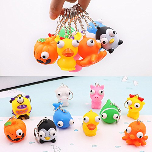 Cacys-Store - Squeeze Toys Keychain Healing Stress Ball Vent Toy Doll Stretchy Mini Animal Fun Christmas Gifts