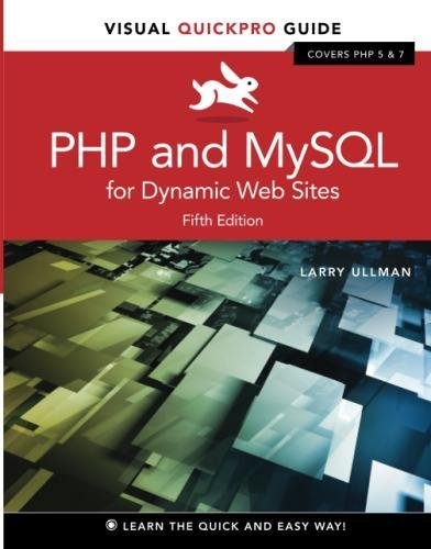 Php And Mysql For Dynamic Web Sites  Visual Quickpro Guide  5Th Edition