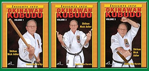 3 DVD SET Insights into Okinawan Karate Kobudo Weapons Bo Sai Tonfa
