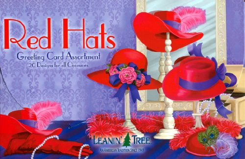 Red Hats - Greeting Card Assortment by Leanin' Tree - 20 cards designed with Red Hat Society Ladies in Mind
