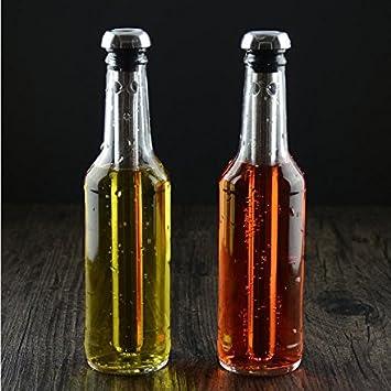 Sticks Beer Cooler Bagues de refroidissement pour Home Bar Outdoor Beach Party Itian Refroidisseur de bi/ère 2pcs