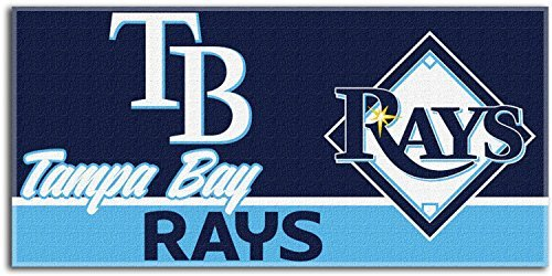 The Northwest Company MLB Tampa Bay Rays Short Stop Oversized Beach Towel, 34-Inch by 70-Inch (Tampa Bay Rays Pool)
