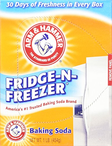 - Arm & Hammer Fridge-N-Freezer Baking Soda Odor Absorber, 14 Ounces (Pack of 6)