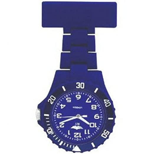 Prince NY London goma giratoria Unisex - Reloj de bolsillo para Enfermeras En Color Azul/Juego de cara con 3d marcapáginas Combo se vende por Trendz: ...