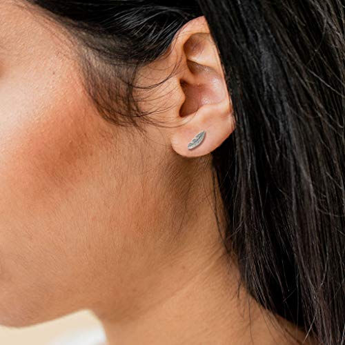 67c306729 Boma Jewelry Sterling Silver Feather Stud Earrings - Buy Online ...