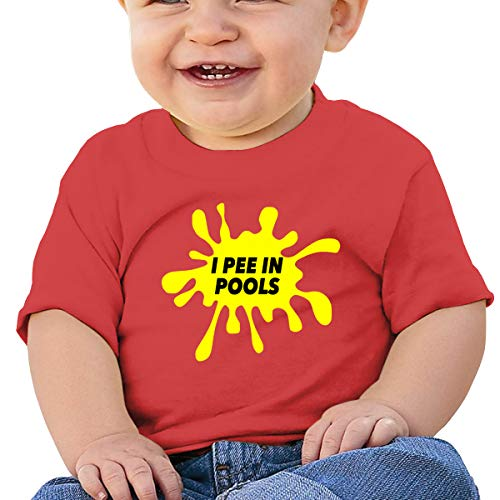 I Pee in Pools Short-Sleeves Tshirts Baby Boy Kids Red