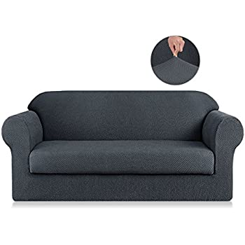 Amazon Com Symax Jacquard Sofa Slipcovers 2 Piece Non