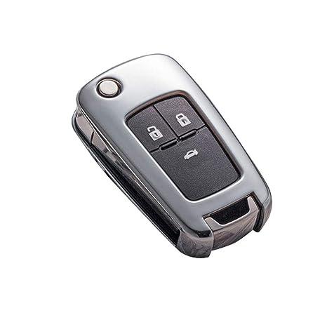 Suave TPU + Funda con Llave para Coche de Silicona Llavero para Buick para Cruze Aveo Trax Opel Astra Corsa Meriva Zafira Antara J Protección de Llave ...