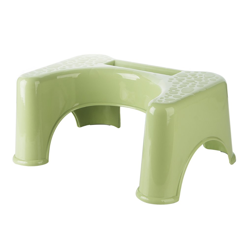 Toilet Stool Plastic Adult Toilet Stool Baby Toilet Stool Toilet Pit Stool Stool Bathroom Anti-slip Stool Toilet Foot Child Step Stool Can Put Mobile Phone White/green/blue/pink 47.53521.5cm