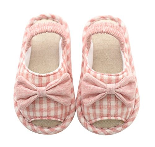 Cattior Toddler Cute Kids Slippers House Shoes Open Toe (7 M, Pink) by Cattior