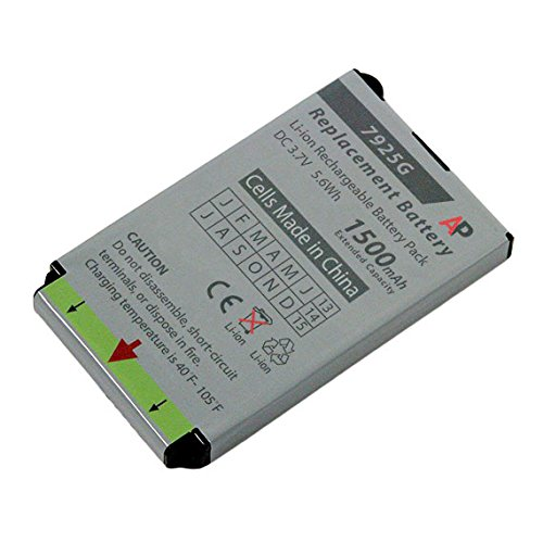 Replacement Battery for Cisco 7925G and 7926G Phones. Extended Capacity, 1500 mAh